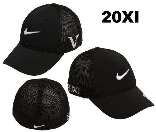 4bb3eaadc7e4a Nike Golf 2011 Tour Mesh Flex Fitted Cap Hat 20XI Victory Red Logo Black    Black