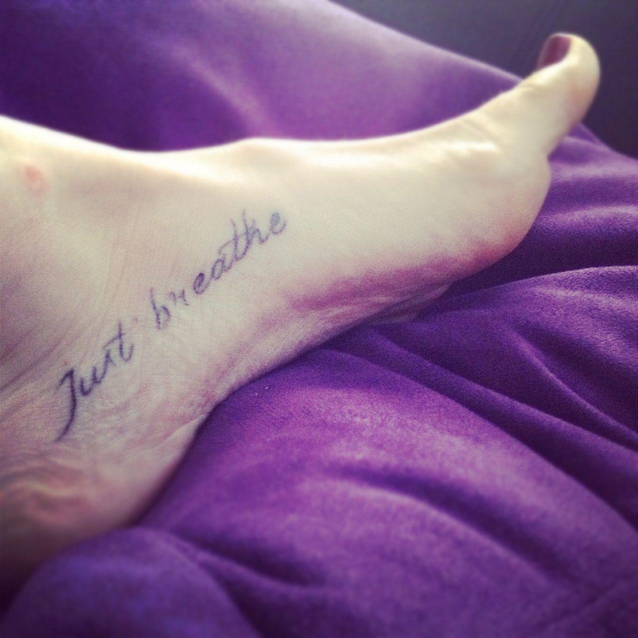 just breathefoot tattoo words pinterest tattoo