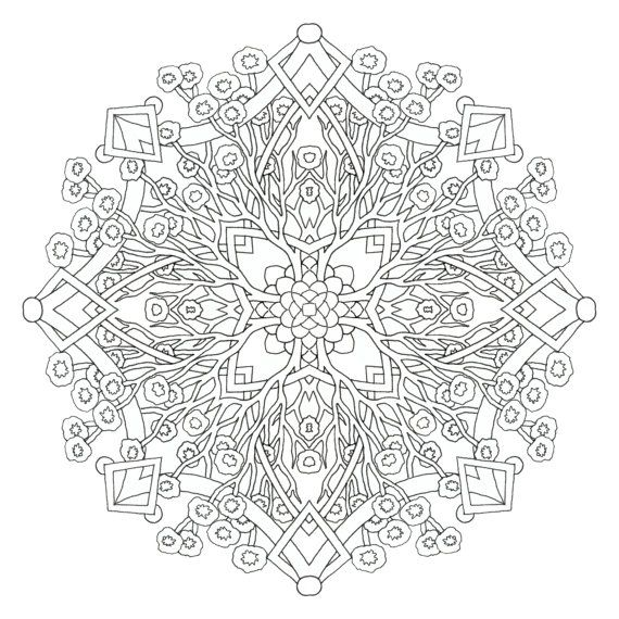 DIGITAL DOWNLOAD This Is A Complex Coloring Page Designed By Cynthia Emerlye It Sized To Fit An 85x11 Inch When Printed Once Purchased