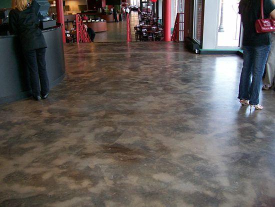 Walnut Concrete Floor Stain Texture