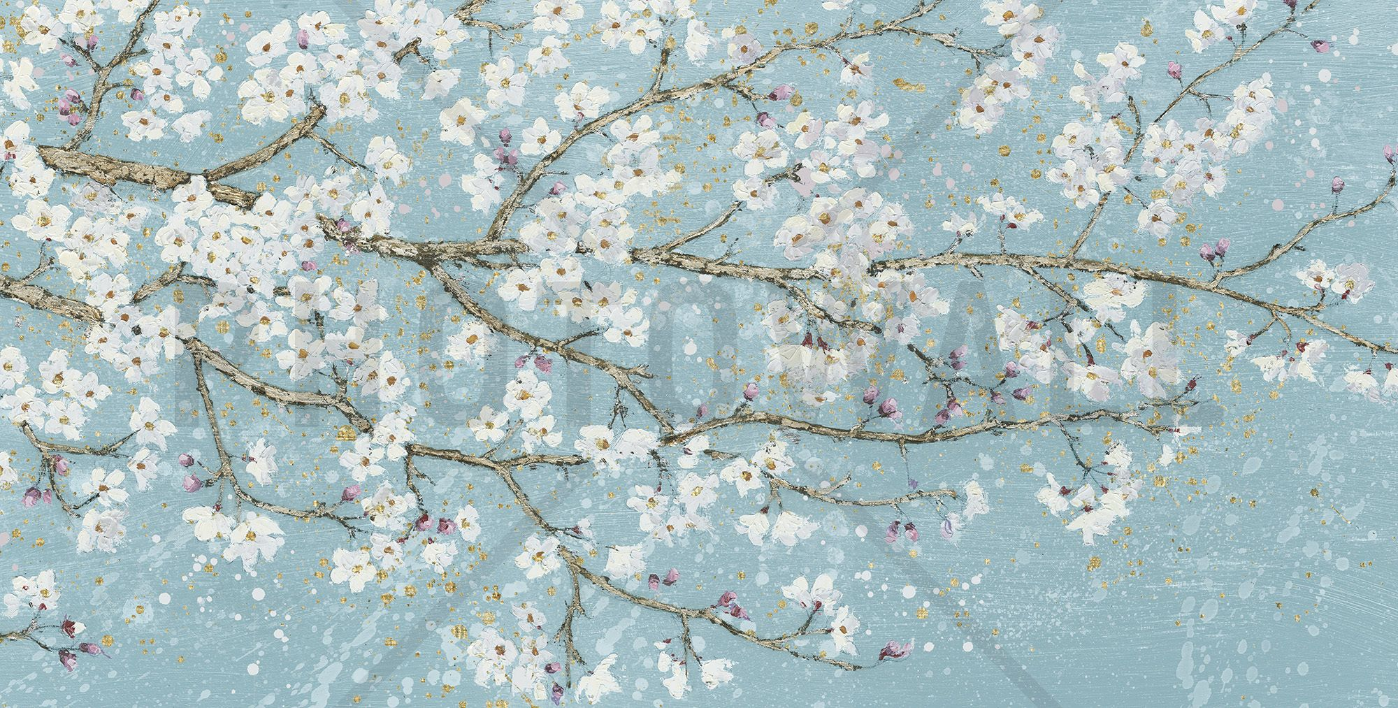 April Breeze I Teal - Tapetit / tapetti - Photowall