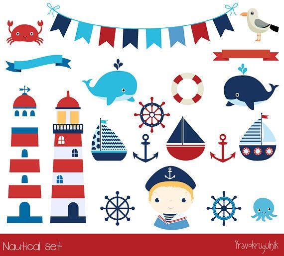 Cute Nautical Clipart Lighthouse Clip Art Anchor Marine
