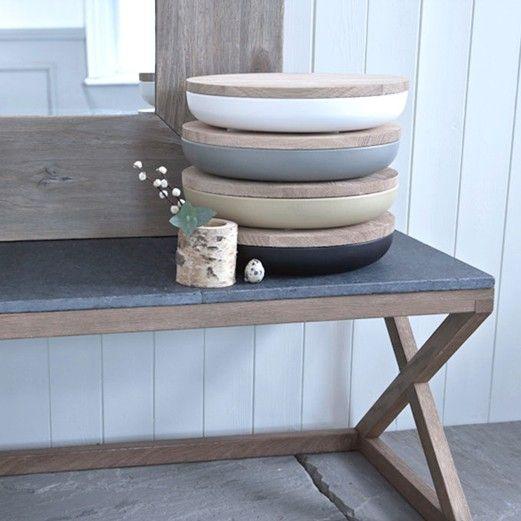 Grove slate top table, from Rowen & Wren.   Well-Designed Stuff ...