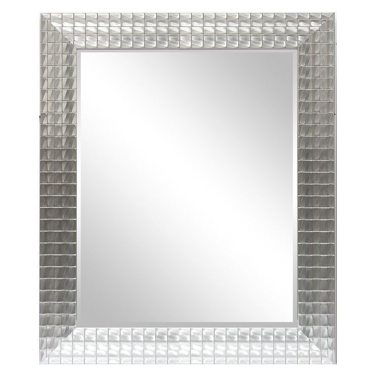 22 X 28 In Silver Ornate Beveled Mosaic Mirror Mirror Mosaic Mirror Mirror Wall Decor