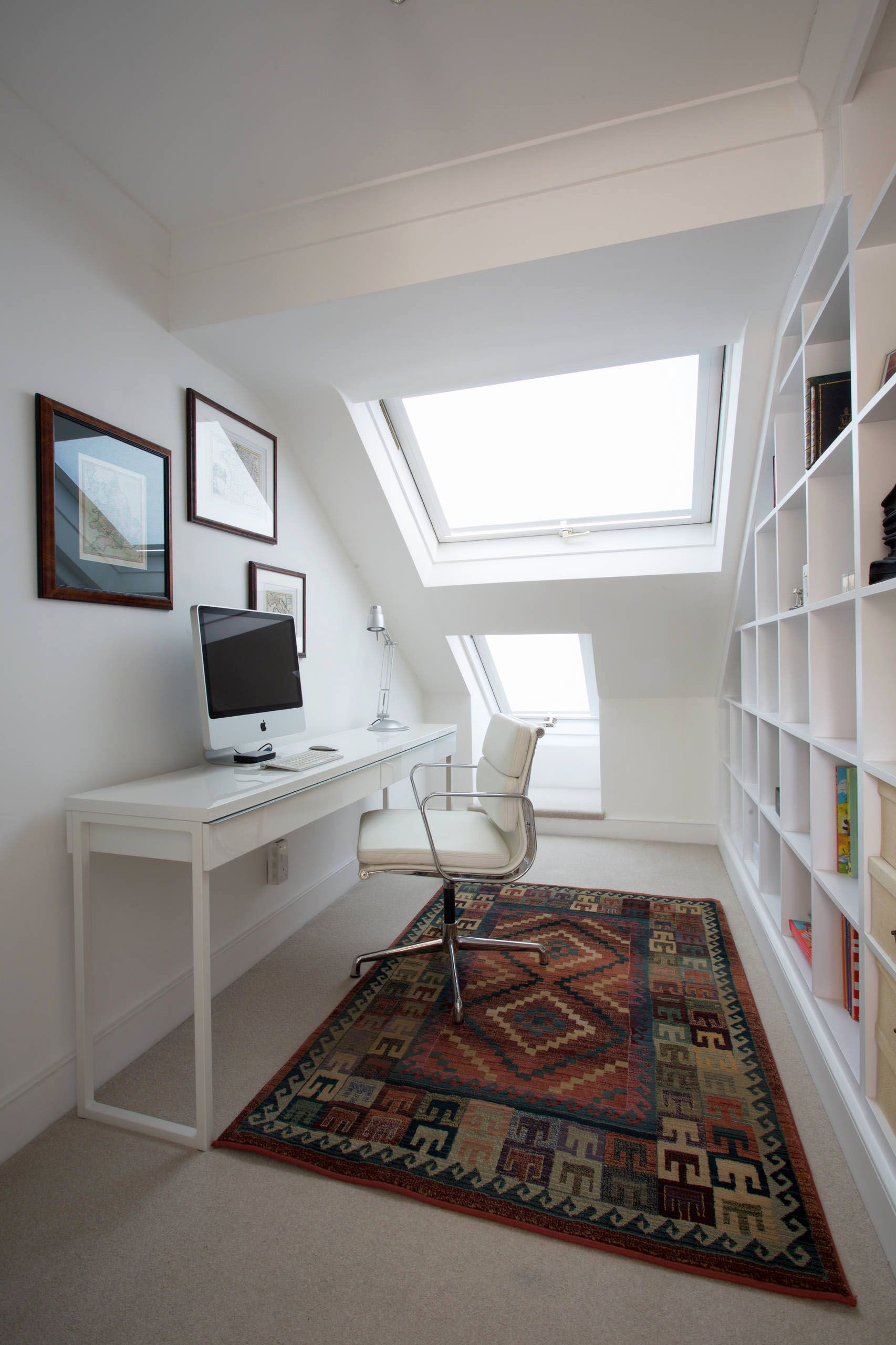 Contemporary Home Office Design with Besta Burs Desk from IKEA and ...