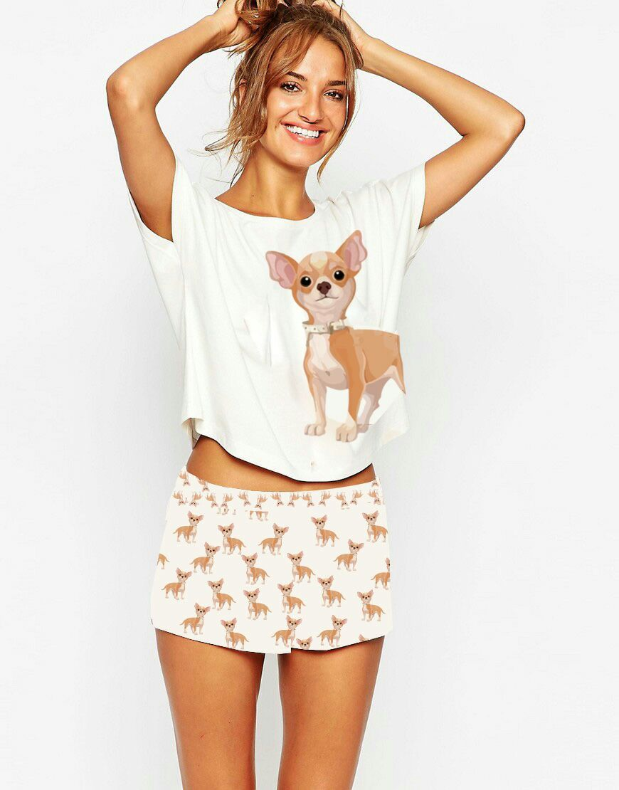 69f5c83814 Cute Chihuahua Print Women Pajamas. Obsessed with Chihuahuas? These super  cute, sexy and