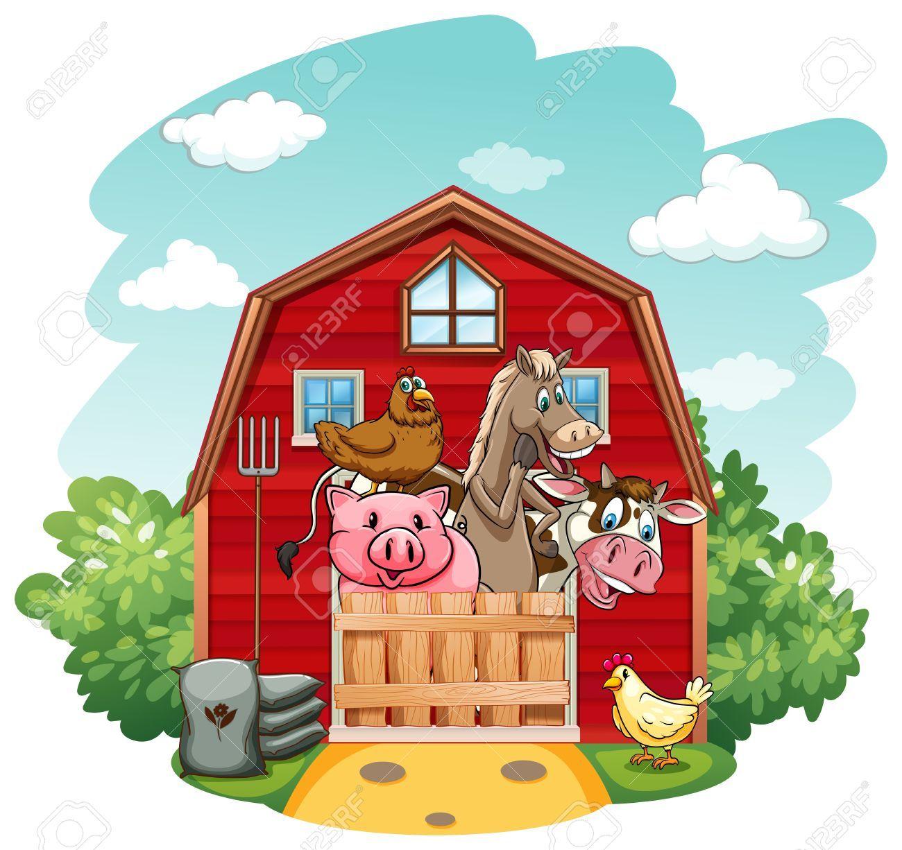 image result for cartoon barn animals pinterest animals farm