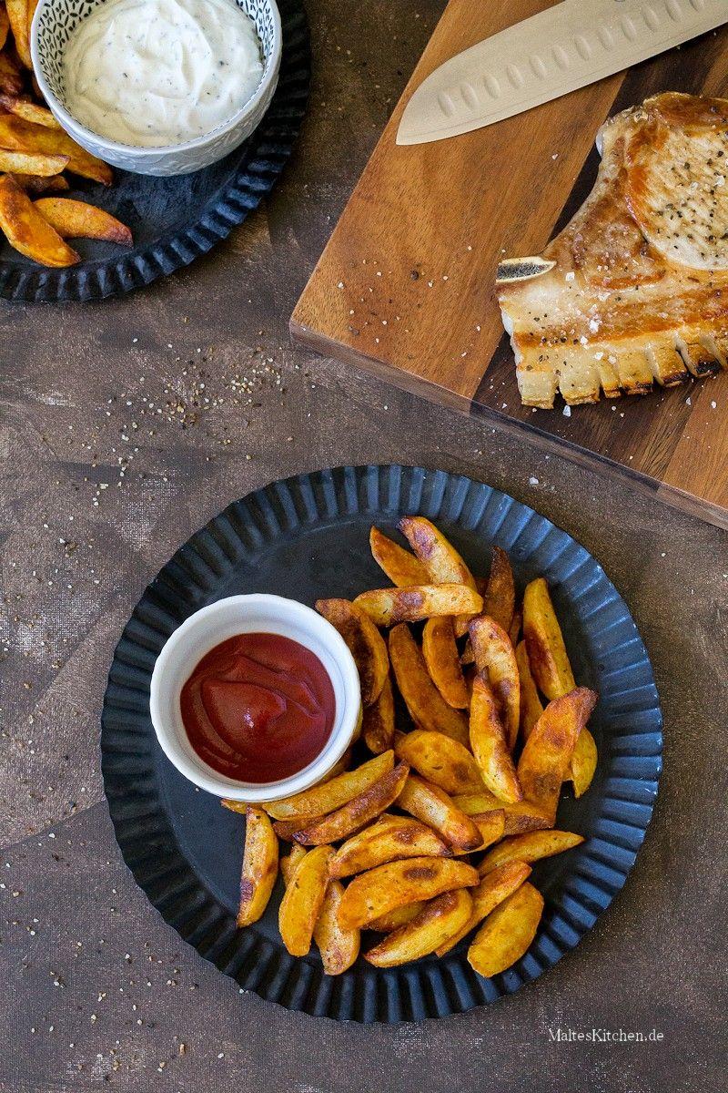Würzige Kartoffelecken mit Sour Creme #kartoffeleckenrezept