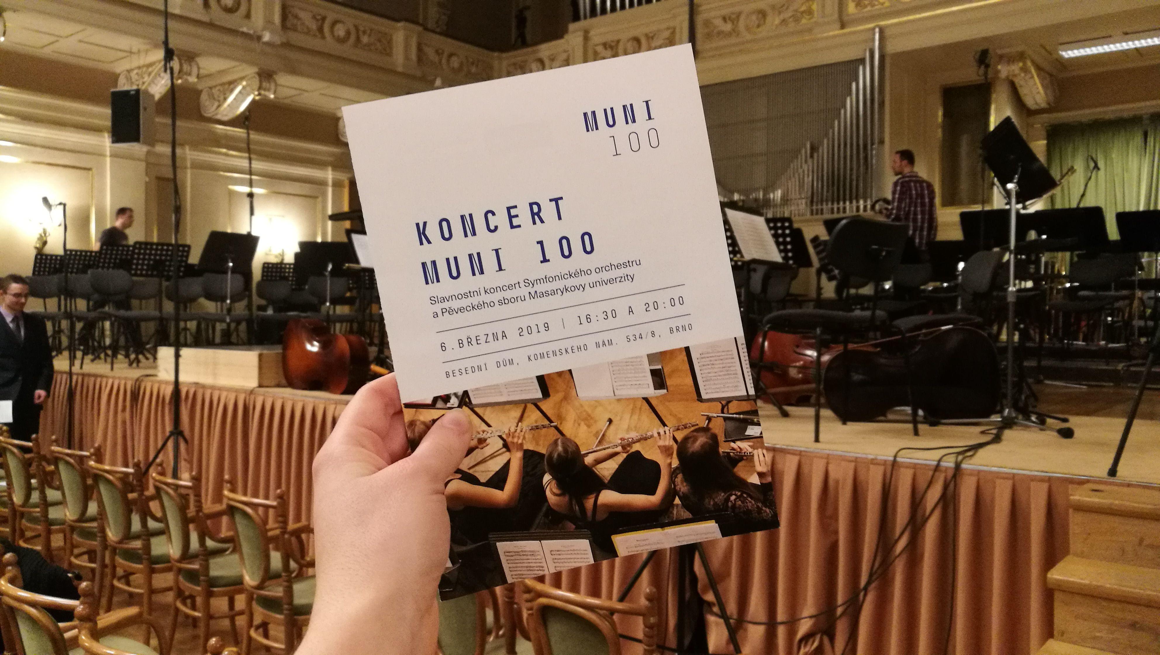 Koncert sa konal pri príležitosti osláv stého založenia Masarykovej univerzity
