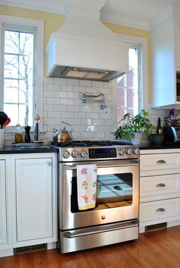 House Crashing Crisp & Classic  White Cabinets Subway Tiles And Amazing Design My Kitchen Home Depot Design Decoration