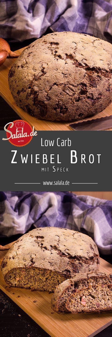 Speck-Zwiebel-Brot – Low Carb Brot, glutenfrei | salala.de – Low Carb leicht gemacht #lowcarbsnacks