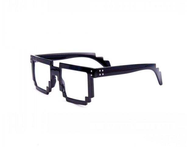 Hipster 8 Bit Gamer Nerd Geek Glasses Black Geek Glasses Hipster Glasses Novelty Sunglasses