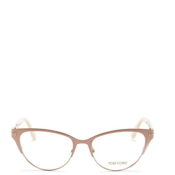 Tom Ford Women S Cat Eye Eyeglasses 199 Liked On Polyvore Featuring Accessories Eyewear Eyeglasses Pnko Metal Glasses Tom Ford Eyewear To Mit Bildern Brille Grau