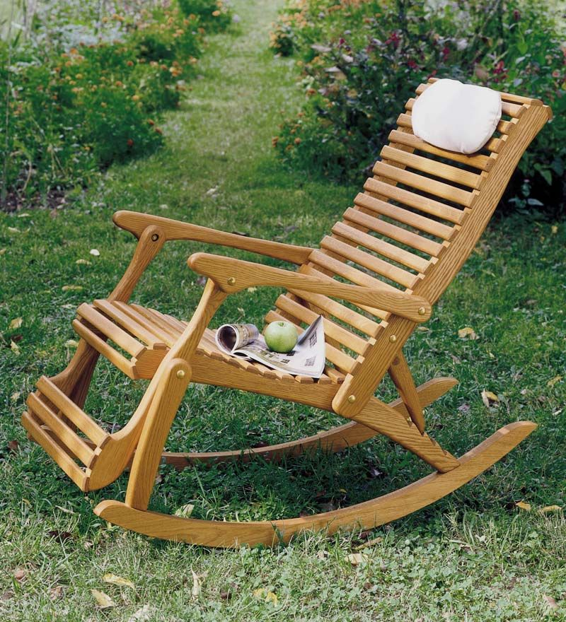 oak rocker recliner a pair of these for the front porch ideas for