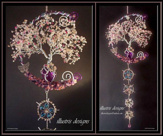 Kirschblüte Draht Baum Skulptur / Windchime / Suncatcher /Art ...
