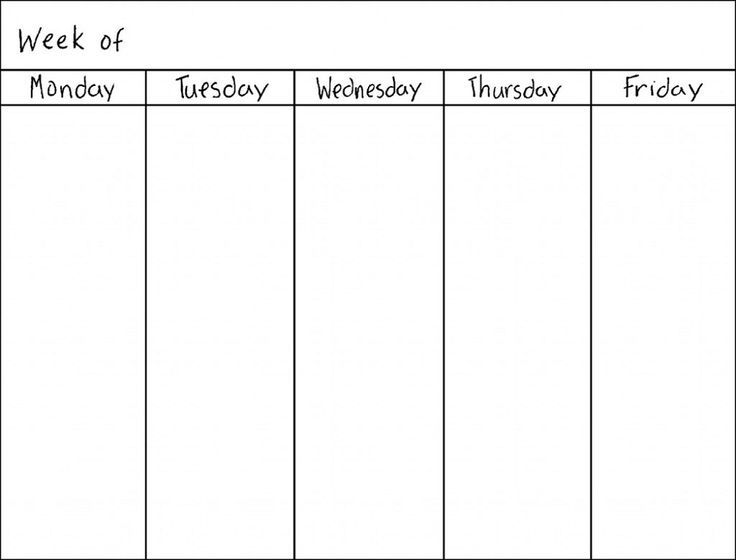Best Ideas About Weekly Calendar Template On   Menu