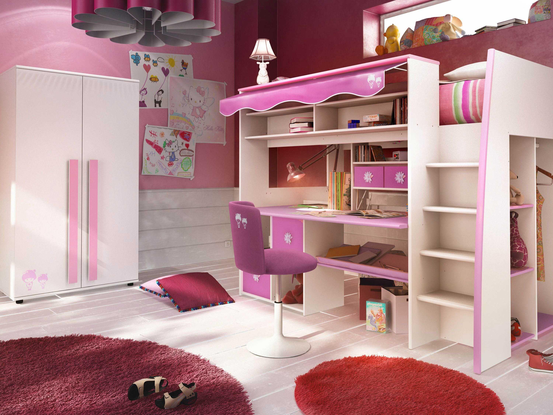 Lit Mezzanine Bureau Fille Luxe Lit Sureleve 2 Places Maison