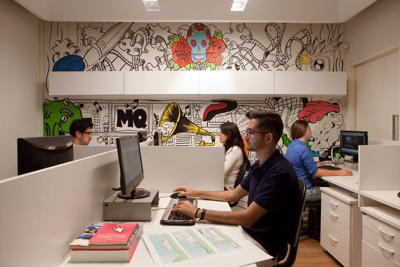 Escrit rio maur cio queiroz arquitetura e design de consumo workspace workstation oficina - Oficinas de consumo ...
