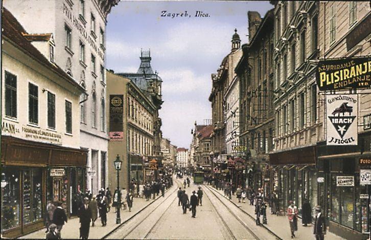 Zagreb 1920 Tih Ilica Zagreb Croatia Scenes