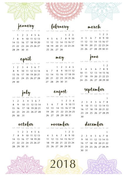 Planner pages u2013 to go with the mandala calendar Planners - free office calendar