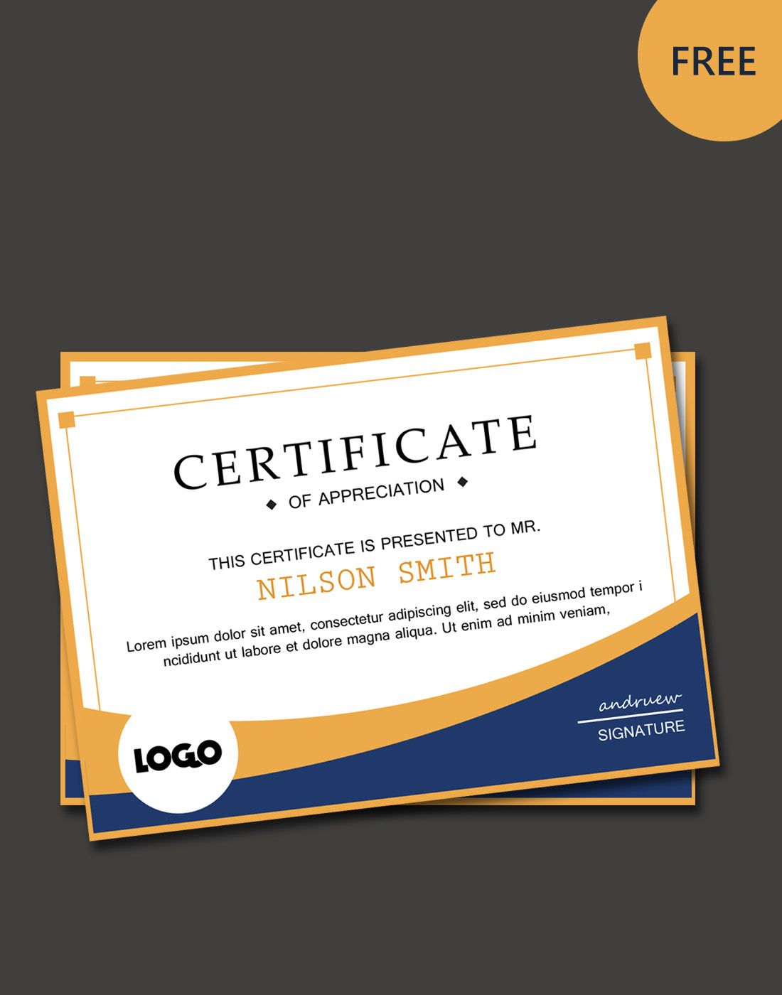 Free Modern Certificate Template On Behance Ideas For The House