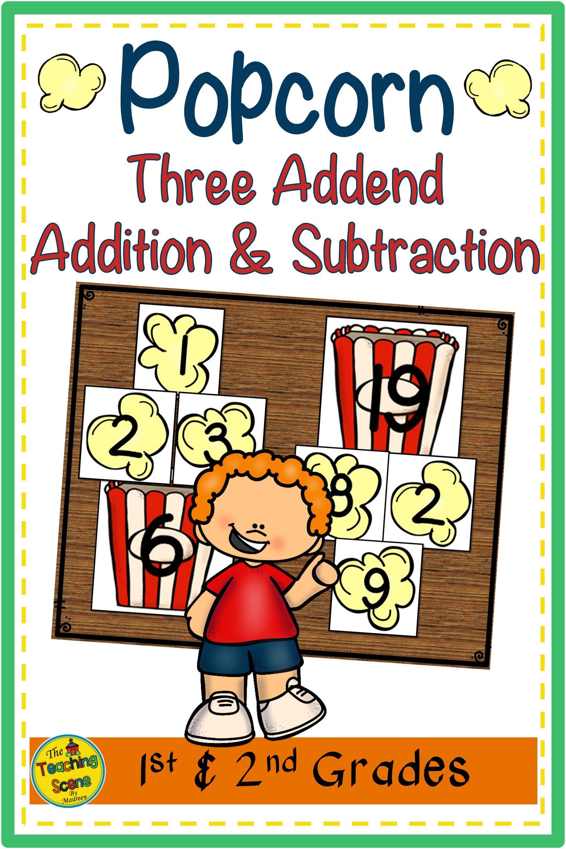 Popcorn Build 3 Addend Addition Amp Subtraction Sentences In