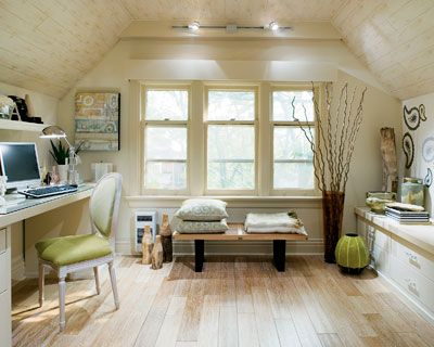 Take Back Your Attic Home Office Design Attic Rooms Traditional Home Office