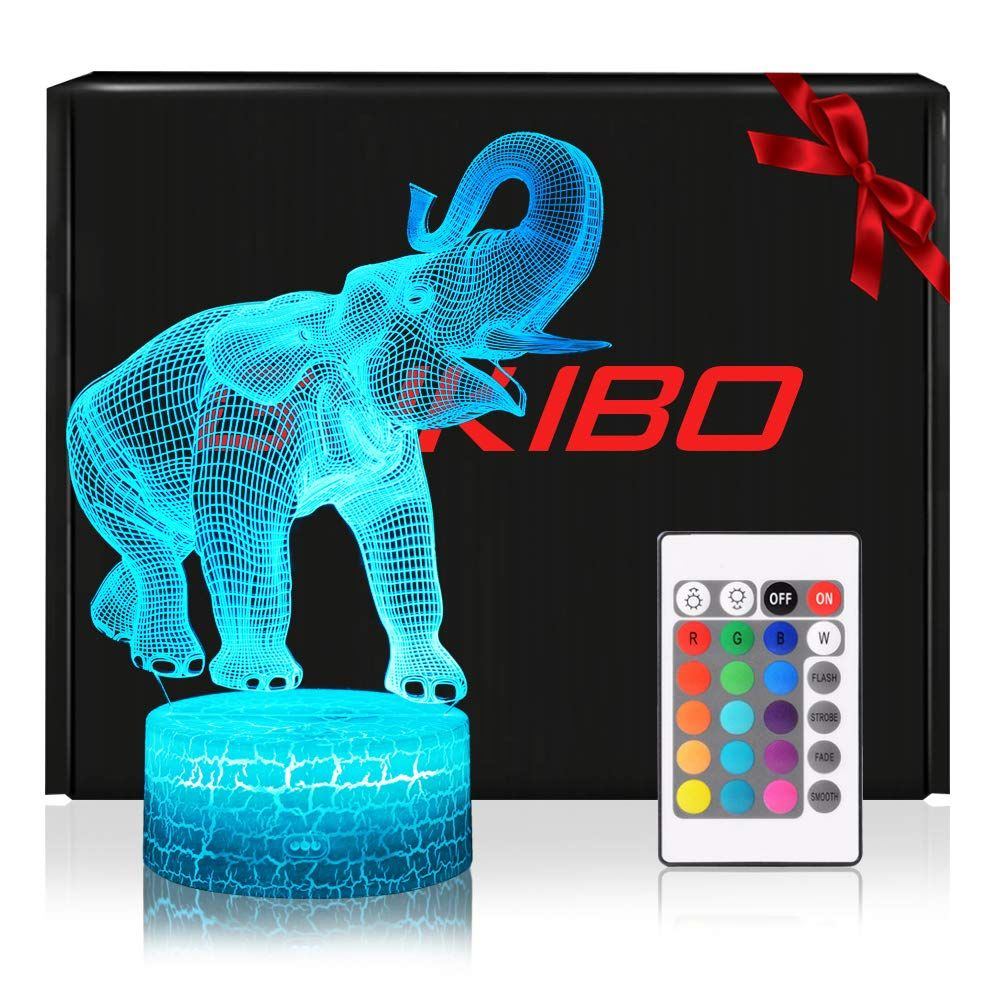 Night Light for Kids New Version 3D Elephant Toy Lamp ...