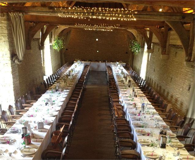 Long table barn décor