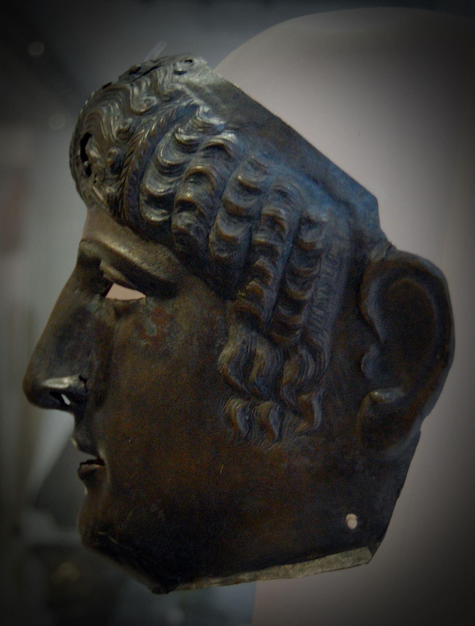 Ancient Roman, Cavalry Parade mask, helmet part missing.
