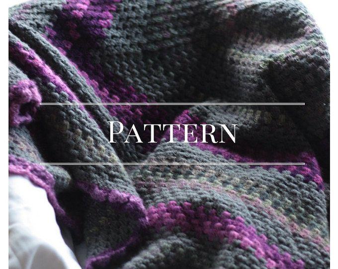 Crochet afghan pattern, Granny Square blanket, Pattern Only ...