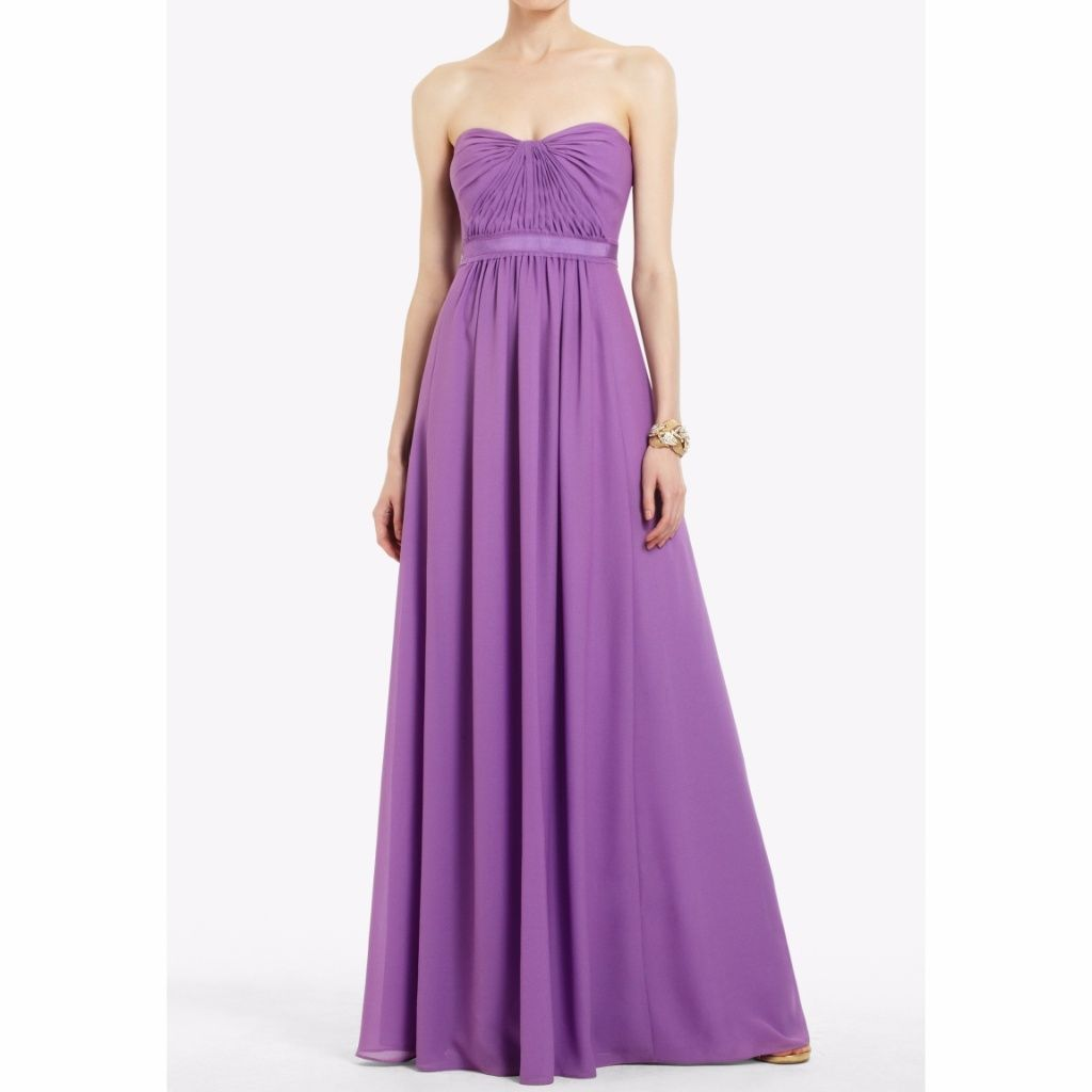 Bcbg Maxazria Amber Dark Iris Strapless Gown | Pinterest