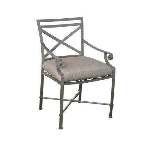 Venetian Dining Arm Chair Brown Jordan Outdoor Patio Furniture Toronto Waterloo Ottawa Hauser S