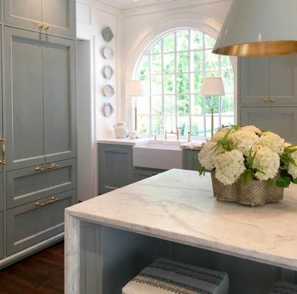 Interior Designers' Favorite White Paint Colors #bluegreykitchens