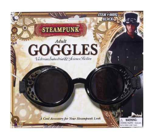SteamPunk Cosplay Radioactive Style Lab Goggles Silver Version NEW UNUSED