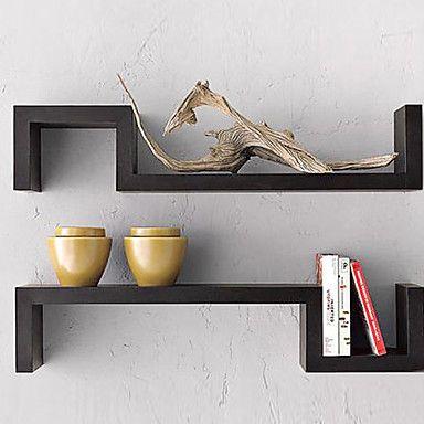 Postmodern Pure Black Ikea Domestic Wall Mounted Shelf Gbp 21 89 Decor Contemporary Wall Shelf Shelves