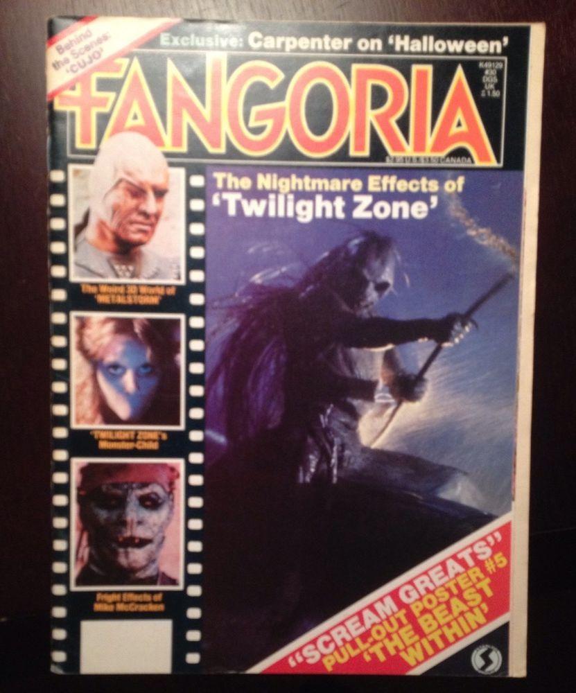 Fangoria #magazine #30 1983 Twilight Zone Movie Metalstorm