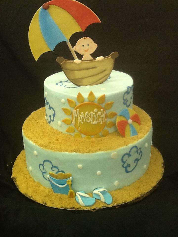 Beach Themed Baby Shower Cake Beach Baby Showers Shower Cakes
