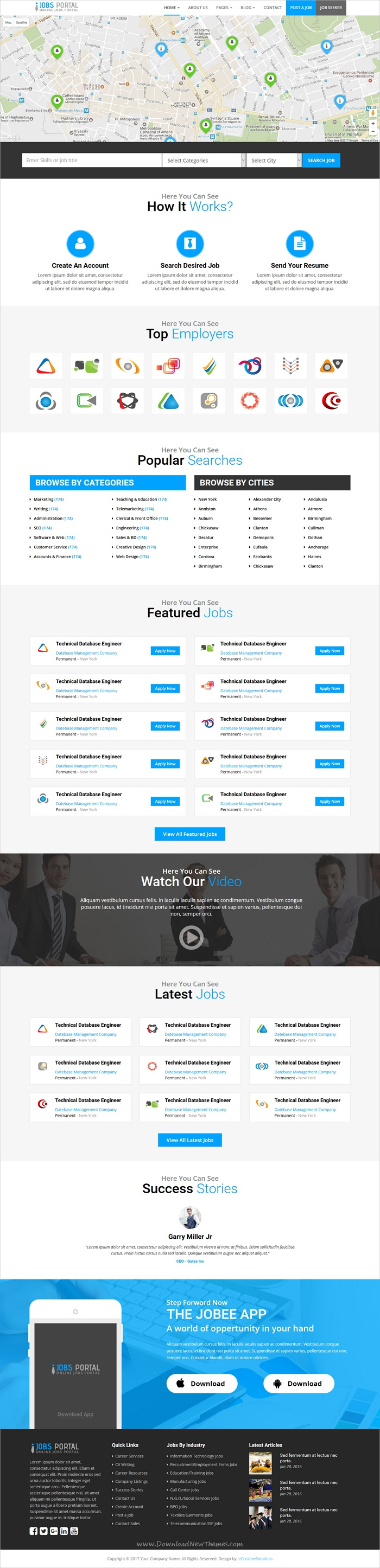 Jobs Portal - Online Jobs Search Template | Online job search ...