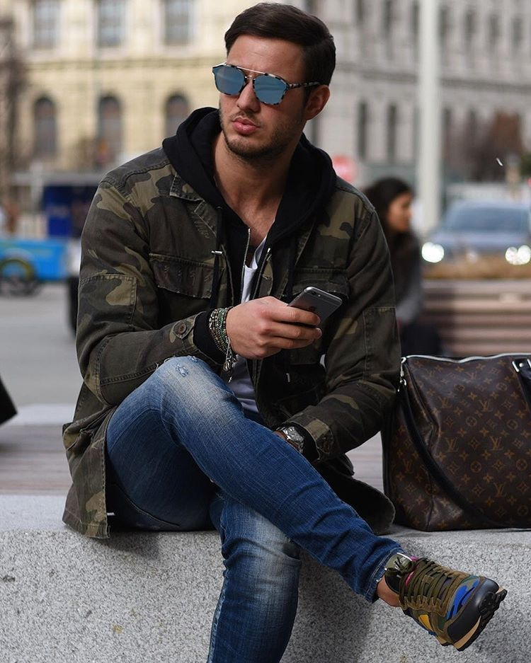 moda hombre — modatrends:   Casual and extremely cool outfit.