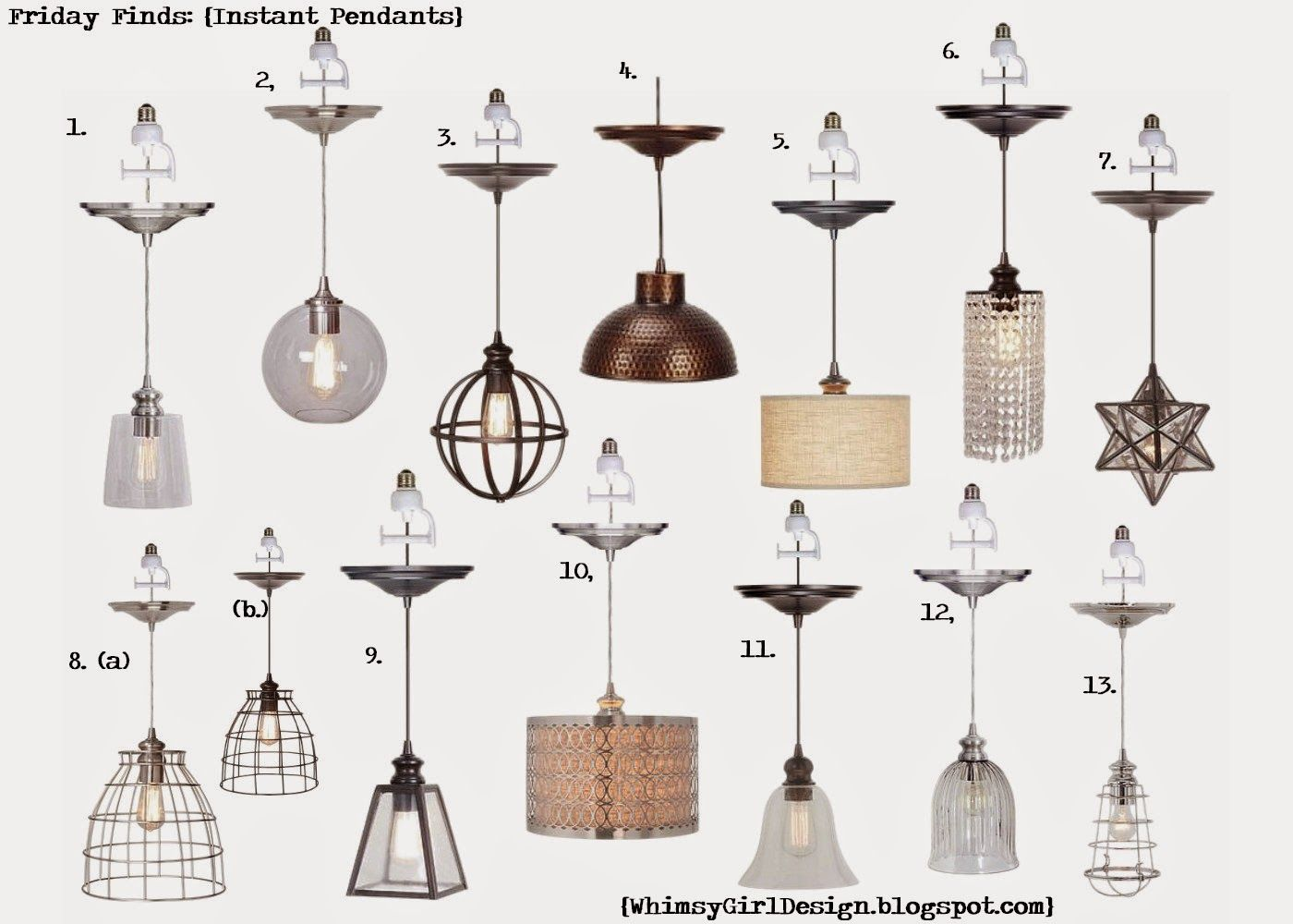 Whimsy girl design friday finds recessed lighting conversion whimsy girl design friday finds recessed lighting conversion pendants just screw the pendant arubaitofo Choice Image