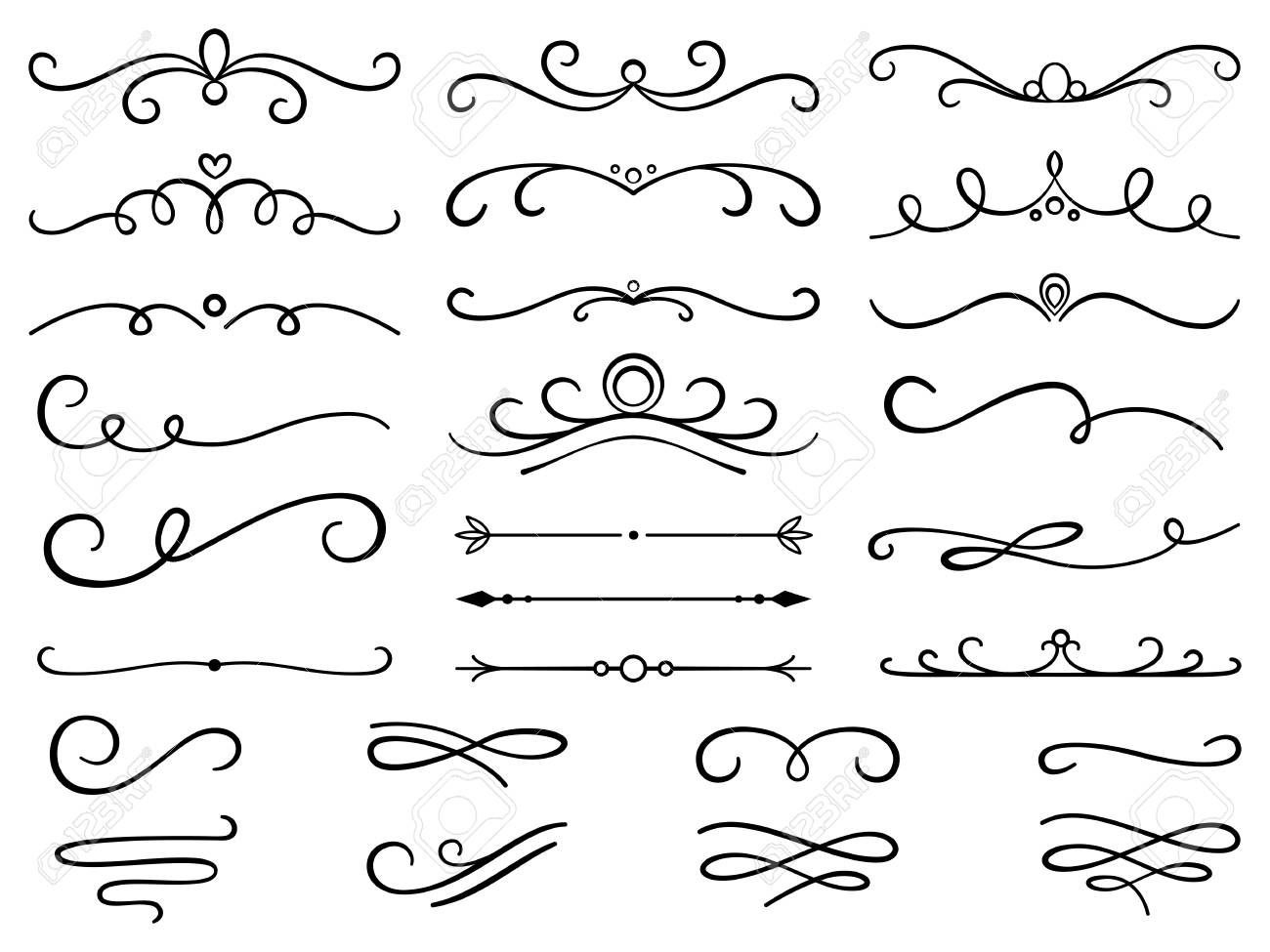 Image Result For Swirl Designs Text Dividers Text Dividers Vintage Text How To Draw Hands
