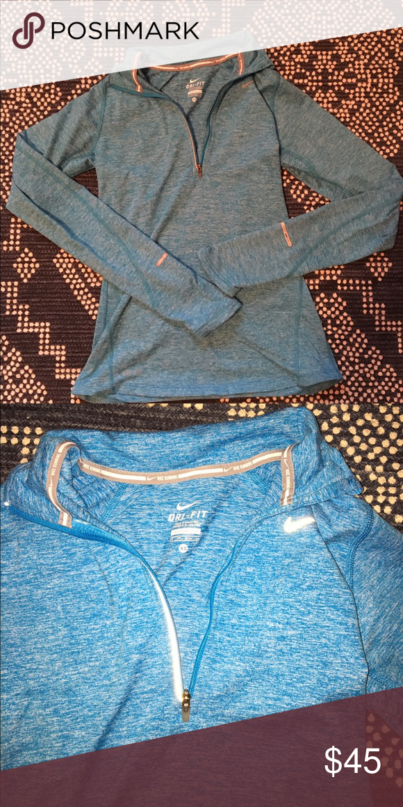 Light blue nike dri-fit jacket Worn only twice! In like new condition! Very comfortable! Please feel free to negotiate or ask questions! Nike Jackets & Coats