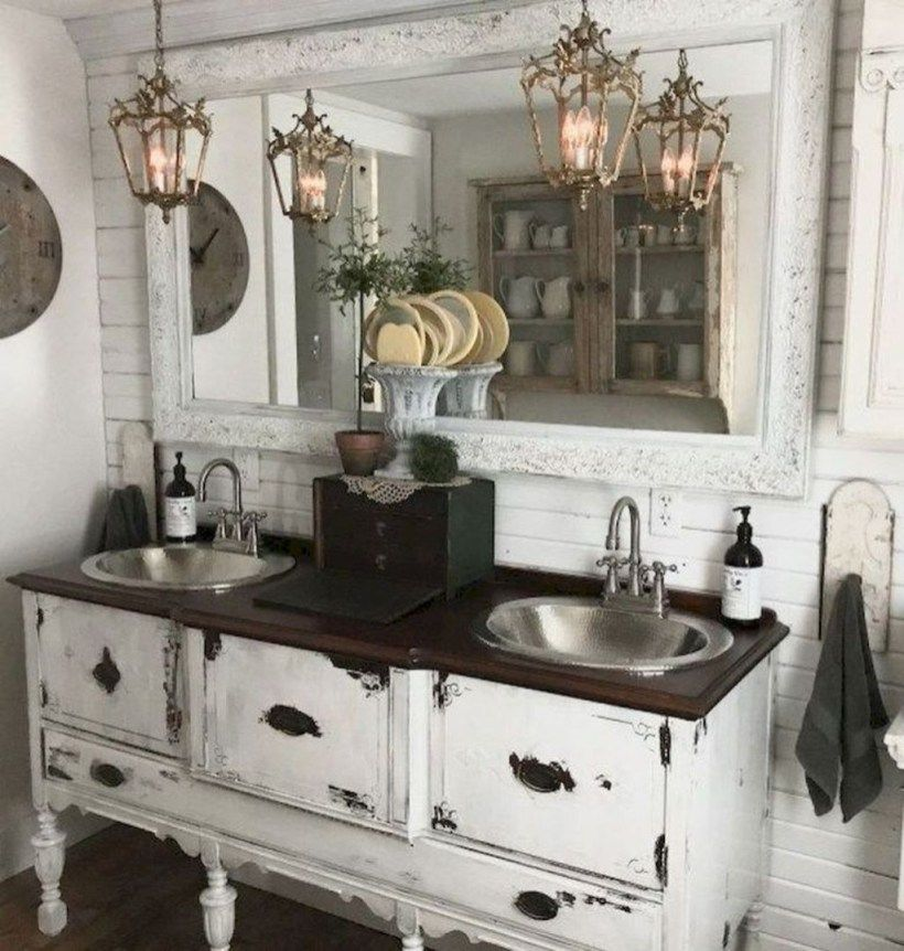 30+ Fabulous Modern Farmhouse Bathroom Vanity Ideas