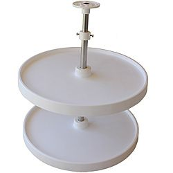 Double Round 18 Inch Lazy Susan Turntable With Two Rotating Trays  (www.ChefBrandy