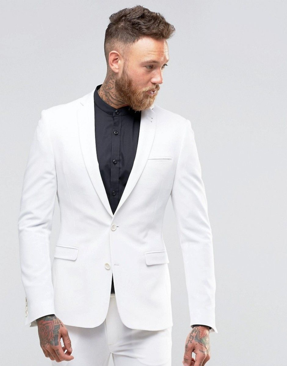 ASOS Super Skinny Fit Suit Jacket In White - White | Skinny fit ...