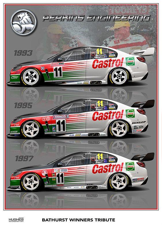Print 108 Perkins Tribute Racing Photos Aussie Muscle Cars Super Cars