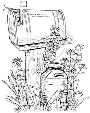 Northwoods Rubber Stamps P526 Rural Mailbox Coloring Books Coloring Pages Painting Patterns