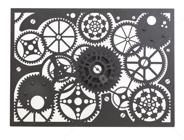Laser Cut Wall Art entanglements laser cut metal art, clockwork design | yiwu