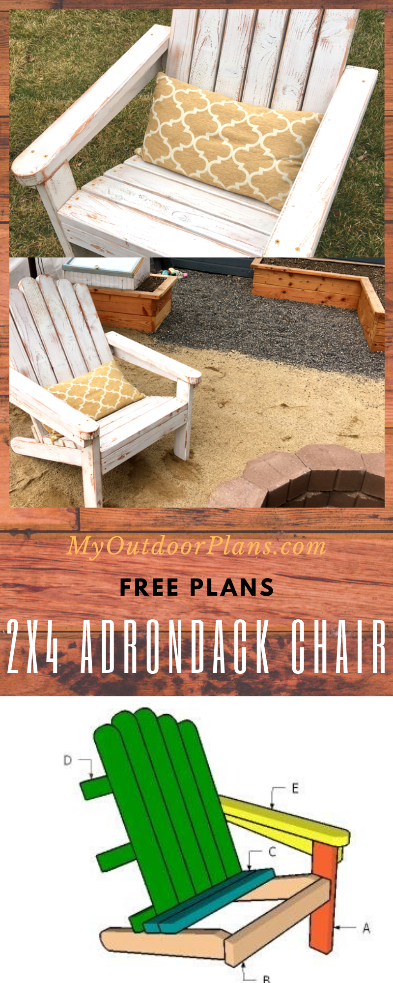 2×4 Adirondack Chair Plans in 2020 (With images